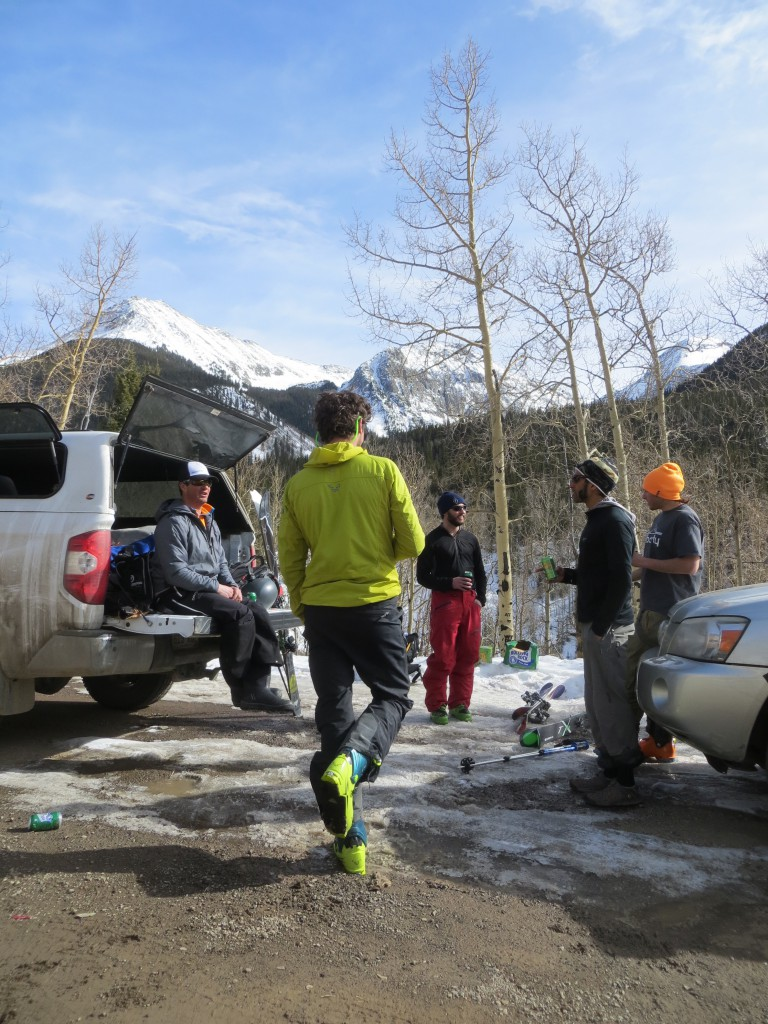 End of the day stoke after some awesome skiing near Silverton, CO.