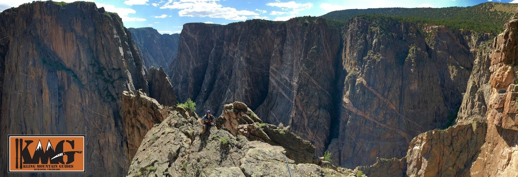 The top of the Russian Crete (5.9, 1800 ft, grade IV) Black Canyon of the Gunnison. Picture by AMGA Certified Rock guide Gary Newmeyer