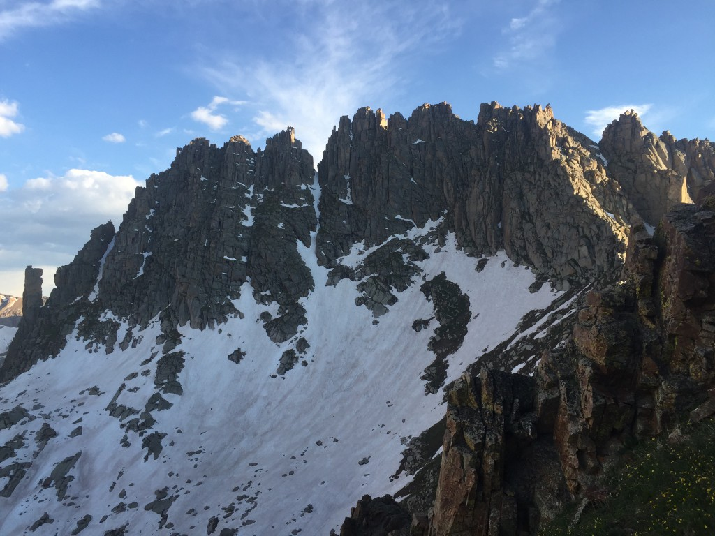 Mid June 2016 looking at Jagged Mountain from Jagged Pass
